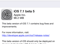 iOS 7.1 Beta 5 Download