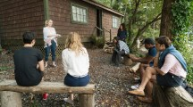 """DEAD OF SUMMER - """"The Devil Inside"""" - With the horrors of last night behind them the counselors of Camp Stillwater finally feel at ease. Maybe too at ease in """"The Devil Inside,"""" an all new episode of """"Dead of Summer,"""" airing TUESDAY, AUGUST 16 (9:00 - 10:00 p.m. EDT) on Freeform (the new name for ABC Family). (Freeform/Katie Yu) ELIZABETH MITCHELL, PAULINA SINGER, ZELDA WILLIAMS, ELI GOREE, RONEN RUBINSTEIN"""