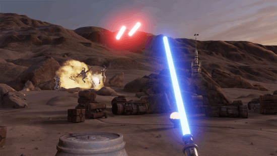 Star Wars VR on HTC Vive - Using a Lightsaber is Not a Dream Anymore