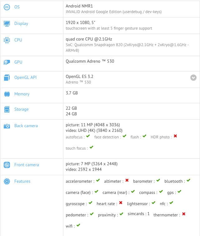 HTC Nexus Sailfish Specifications Leaked Through GFXBench
