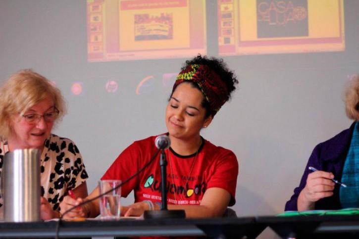 Bianca Santana, na Noruega, onde falou sobre racismo no Brasil