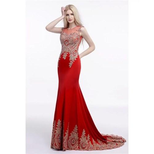Medium Crop Of Red Prom Dress