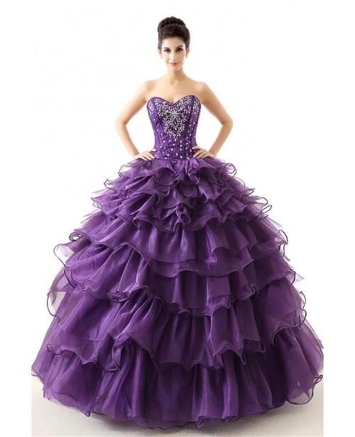 Elegant Cheap Red Ball Gown Formal Dress Tiered Teens Cheap Formal Dresses Nyc Cheap Formal Dresses Online Usa Beading