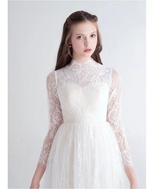 Medium Of High Neck Wedding Dress