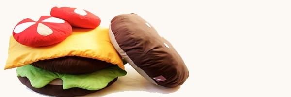 Broadsheet Foodie Scatter Cushions Gemma Patford - Hamburger-scatter-cushions