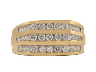Handsome Men's Gold CZ Ring