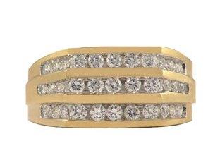 Handsome Men's Gold CZ Ring