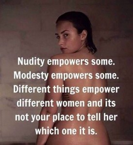 nudity v modesty v empowerment
