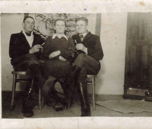 Jan Kominek, Zofia Siudak, Jan Pała, 1945