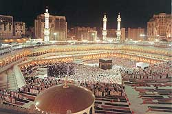 Kabah at night prayer