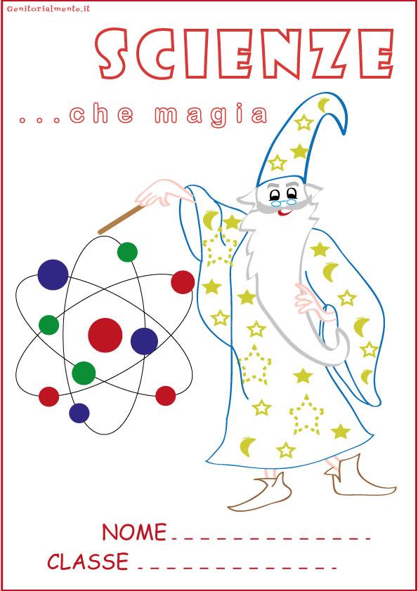 Copertine per quaderni da colorare: scienze | Genitorialmente