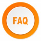 faq orange circle 3d modern design flat icon on white background