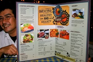 Pablo's Steaks and Crabs Menu Inside pages