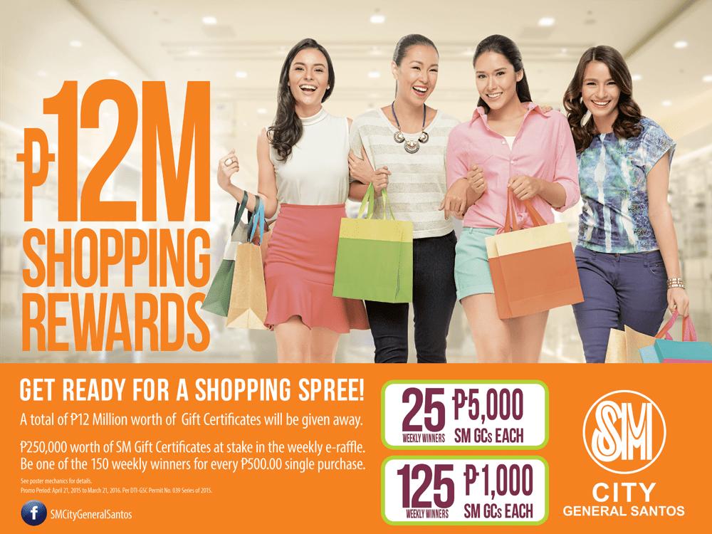 Weekly Winners of SM City Gen. Santos P12Million Shopping Rewards
