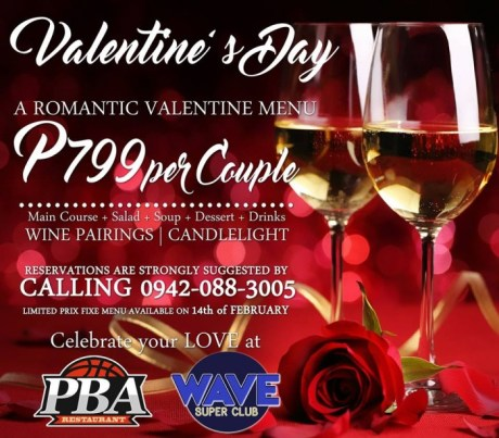 pba sports bar and wave valentines