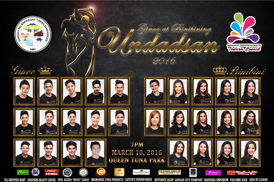 Brgy. Dadiangas South presents the Ginoo at Binibining UnDadsan 2016 Candidates