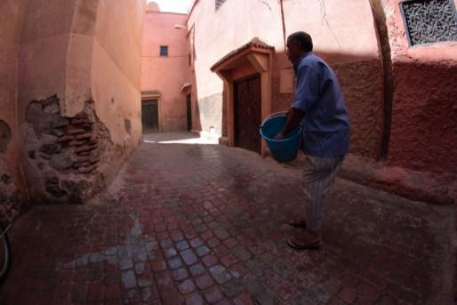 pulire strade Marocco