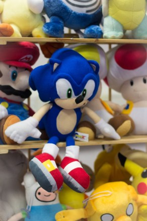 Stuffed Sonic toy