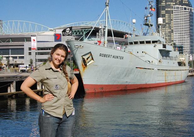 Emily Hunter, daughter of Greenpeace founder Robert Hunter...