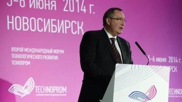 Ruský vicepremiér Dmitrij Rogozin na konferenci Technoprom v Novosibirsku (foto: RIA Novosti)