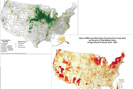 corn belt dairy belt maps
