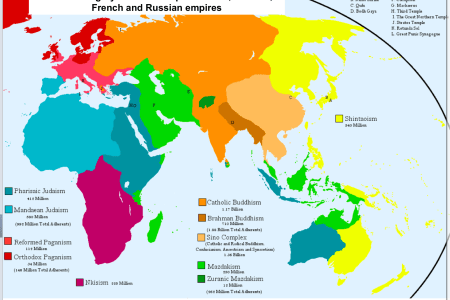 Map religions world bizarre world religion map gumiabroncs Image collections
