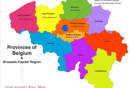 belgium provinces map