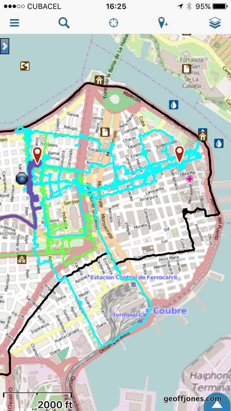 Jamaica Walking Tour Map