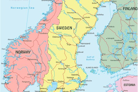 Map Of Swedish - Sweden map and cities