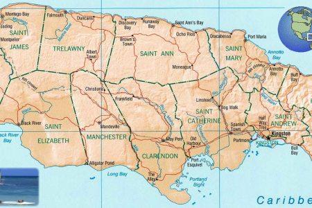 map jamaica