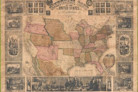 pictorial map of the united states. geographicus rare