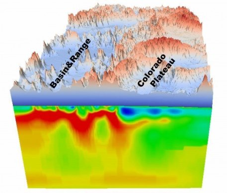 Geodynamic modelling relies on knowing the 'viscosity' or resistance to changing shape of Earth's outer layers. Credit: Jiashun Hu, University of Illinois