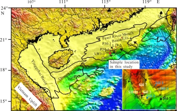 Sampling location in the Shenhu area of the South China Sea. Credit: ©Science China Press