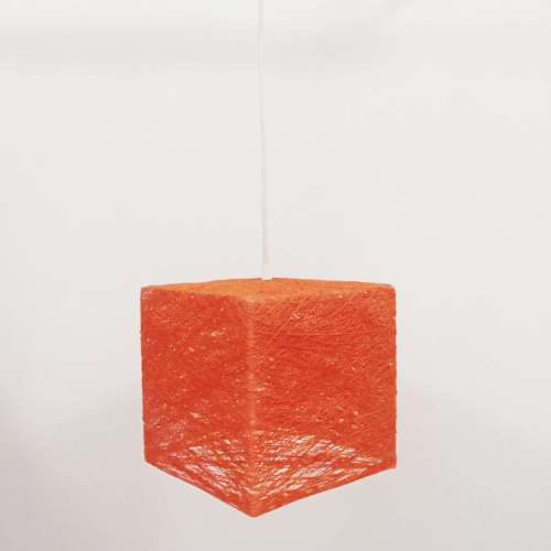 Cube lámpara de techo naranja