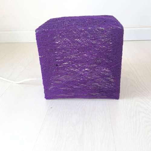 Cube lámpara de suelo cuadrada violeta