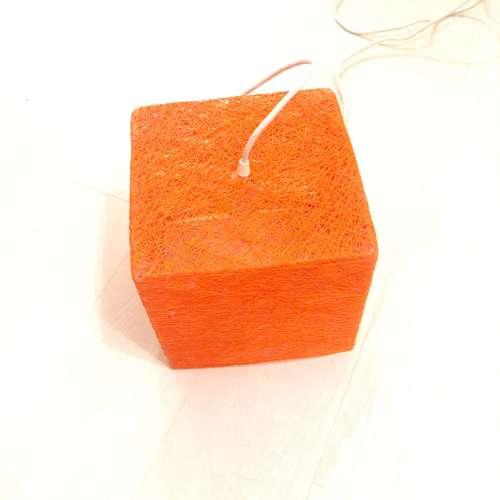 Cube lámpara de suelo cuadrada naranja