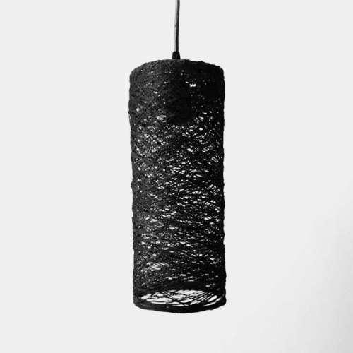Cylinder lámpara de techo negra