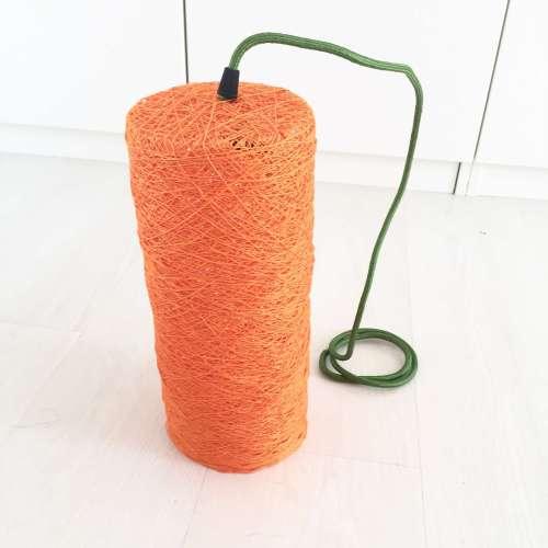 Lámpara de suelo decorativa hecha a mano de hilo de diseño