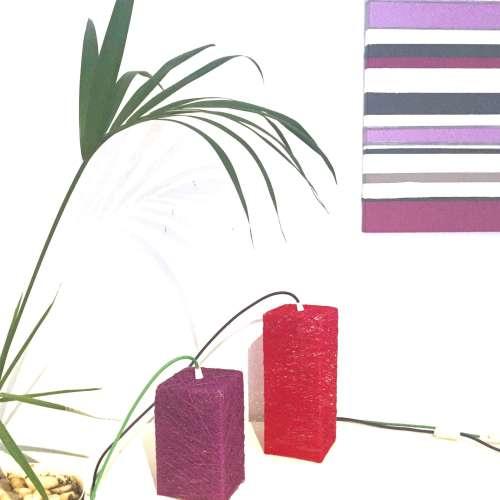 Lámpara de mesa o suelo prisma hecha a mano artesanal