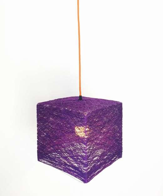 Lámpara de pared CUBE con interruptor y enchufe