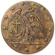 1798-1810 US NAavy 23MM Gilded-Brass Carin & Co Treble Gilt Albert's NA 6-A-georgewashingtoninauguralbuttons.com