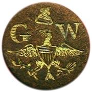 WI 23-B 14mm Gilt Brass Dave Dug in South Carolina 5