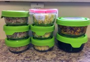 Storing healthy food in clear containers means you'll eat it.