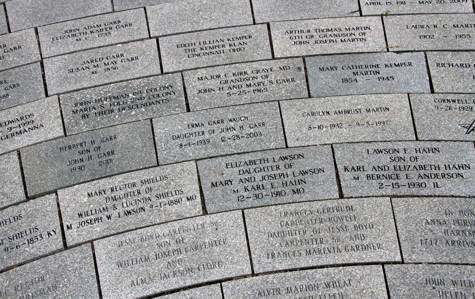 Order Engraved Stone Pavers for Germanna Memorial Garden