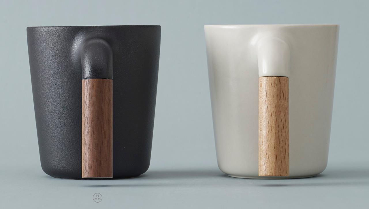 Showy Ceramic Coffee Mug R Shaped Wooden Handle 0 Travel Mugs No Handles furniture Travel Mugs No Handle