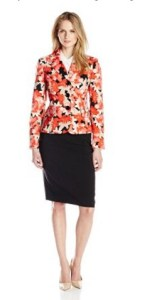 Le Suit Women's Long-Sleeve Printed Jacket and Skirt Set Image