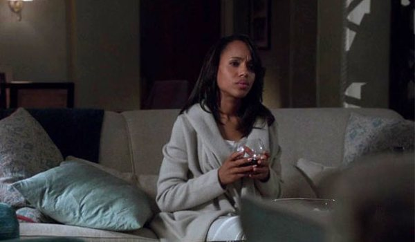 Olivia Pope Drinking Wine in Camille Wine Glass