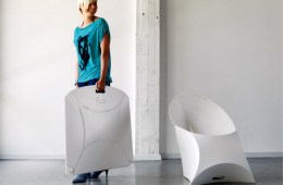 Origami Flux Chair Folds Completely Flat