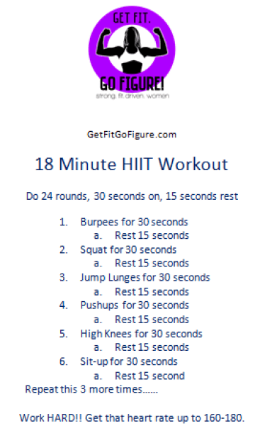 18 Min HIIT Workout 2
