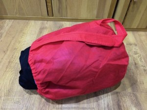 The Junior Air Bed in its bag